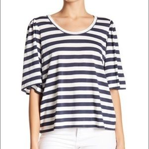 14th & Union Stripe Bell Sleeve Top